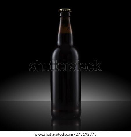 Black Beer Bottle - stock photo
