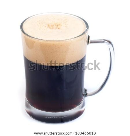 Black beer mug - stock photo