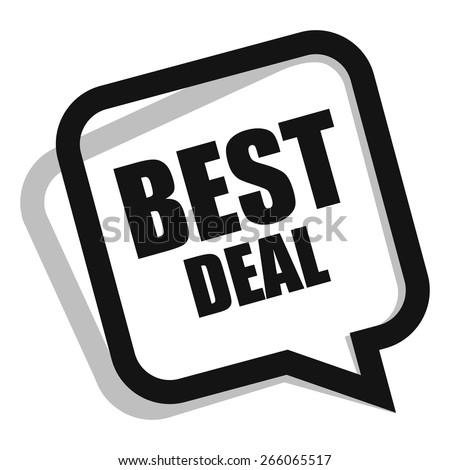black best deal speech bubble, speech balloon, sticker, sign, icon, label isolated on white - stock photo