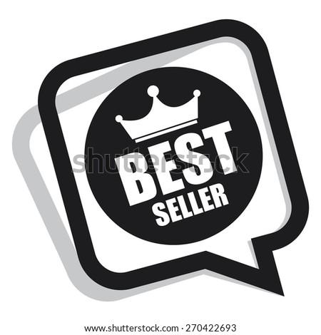 black best seller speech bubble, speech balloon, sticker, sign, icon, label isolated on white - stock photo