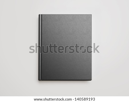 black blank book - stock photo