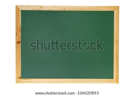 Black Board on White Background - stock photo