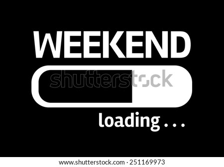 Black board with inscription: Weekend - stock photo