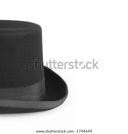 Black Bowler Hat (with copy space) - stock photo