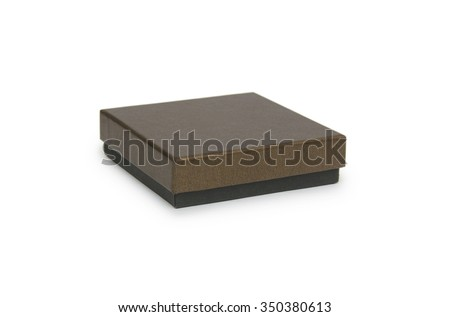 Black box isolated on white - stock photo
