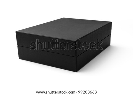 Black box isolated on white - #3 - stock photo