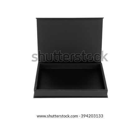 Black box on a white background - stock photo