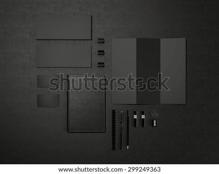 Black Branding MockUp on black leather High resolution - stock photo