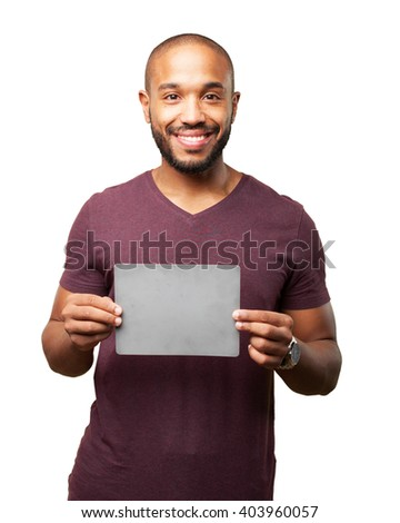 black businessman happy expression - stock photo