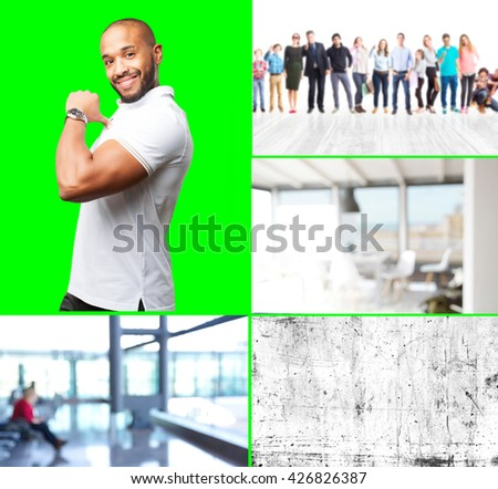 black businessman happy expression - stock photo