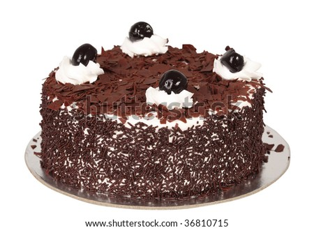 black cake - stock photo