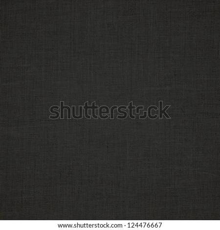 black canvas background fabric texture pattern - stock photo