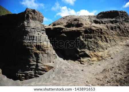 Black Canyon Volcanic Mountain Landscape - stock photo
