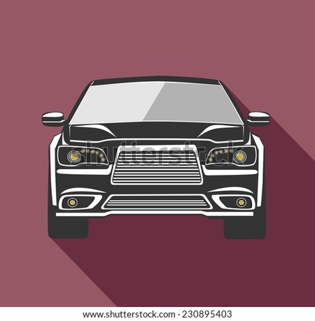 black car - stock photo