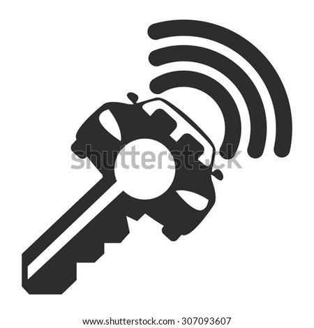 Black Car Remote Infographics Flat Icon, Sign Isolated on White Background - stock photo