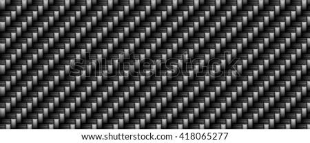 Black carbon fiber material texture background,  digital illustration art work. - stock photo