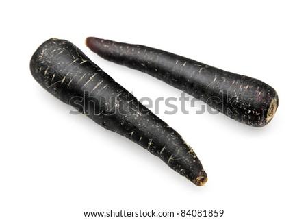 Black Carrot - stock photo