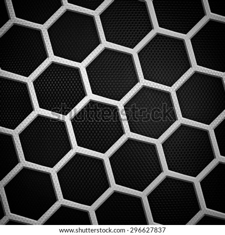 black cellular metal background  - stock photo