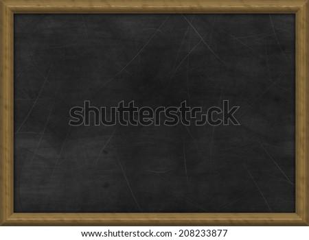 black chalk board - stock photo