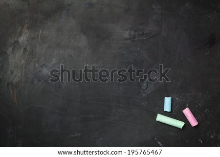 Black chalkboard texture. - stock photo
