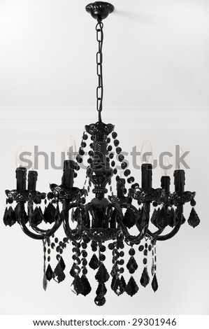 Black chandelier - stock photo
