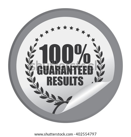 Black Circle 100% Guaranteed Reliable Product Label, Campaign Promotion Infographics Flat Icon, Peeling Sticker, Sign Isolated on White Background  - stock photo