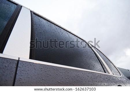 Black clean tint window - stock photo