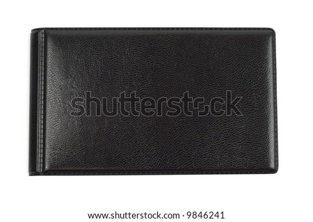 Black closed case isolated with clipping path over white background - stock photo