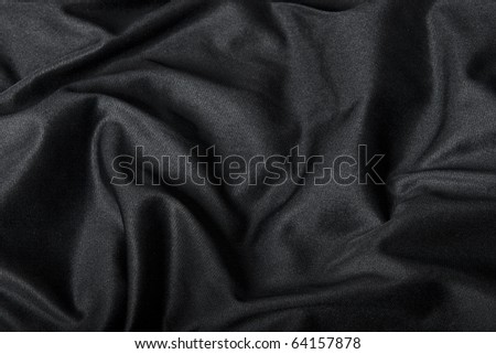 Black Cloth Background - stock photo