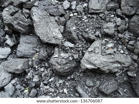 black coal - stock photo