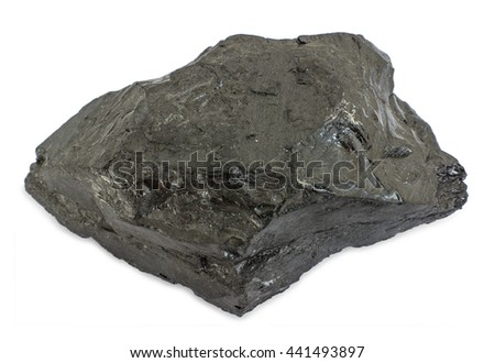 Black coal. Bituminous coal is a relatively soft and containing a tarlike substance called bitumen. It is of higher quality than lignite  but of poorer quality than anthracite. - stock photo