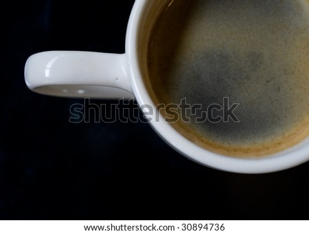 black coffee close up - stock photo