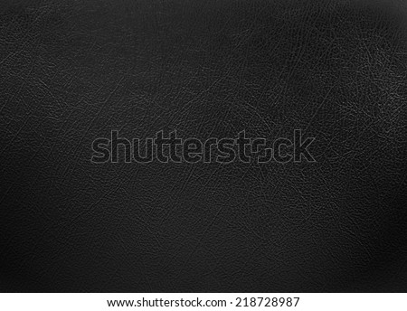Black colored leather texture background - stock photo