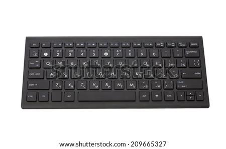 Black computer keyboard isolated on white background  - stock photo