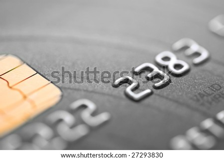 black credit card - stock photo