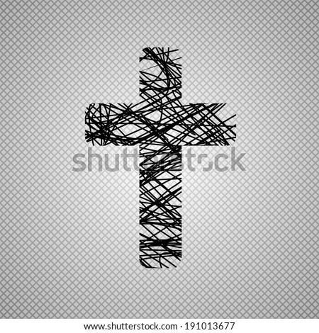 Black cross - stock photo