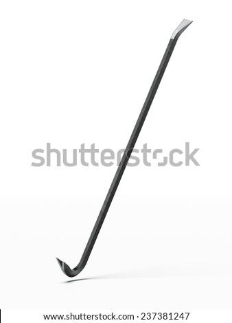 Black Crowbar  - stock photo