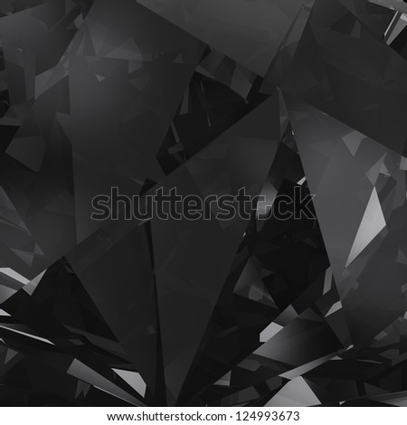 Black crystal facet background - stock photo