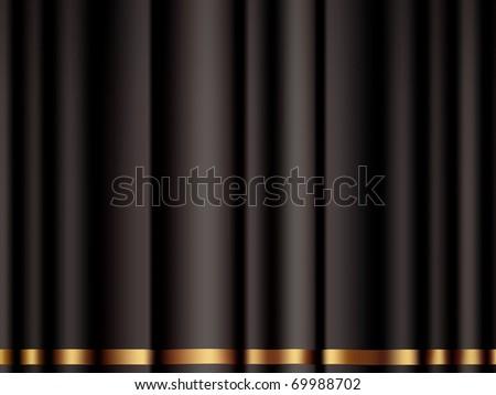 Black Curtain, bitmap copy - stock photo