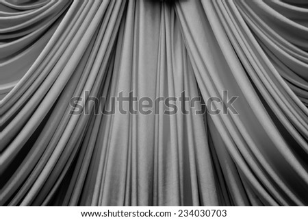 black curtain texture for background - stock photo