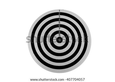 Black Dartboard isolated on white background - stock photo