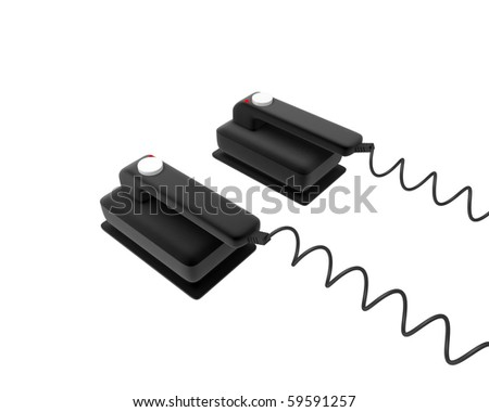 black defibrillator pads - stock photo