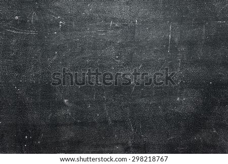 Black dirty chalkboard background - stock photo