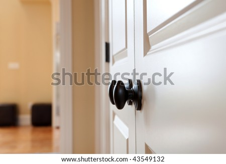 Black Door Knob - stock photo