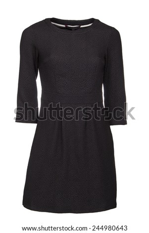 Black dress isolated - stock photo