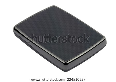 Black external HDD - stock photo