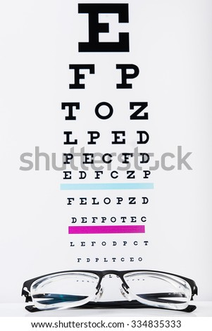 black eye glasses on white background - stock photo