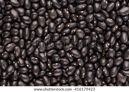 black Eyed Peas organic, Closeup macro shot. - stock photo