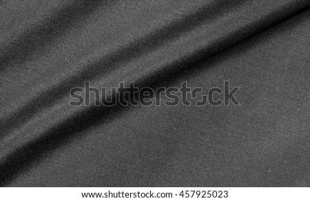 black fabric crumpled texture - stock photo