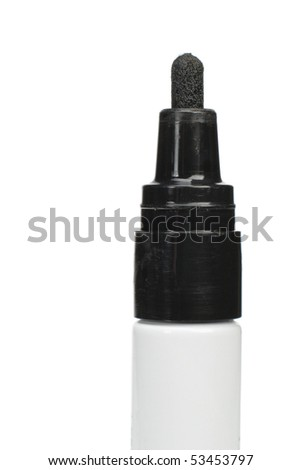 Black felt tip marker isolated on a background - stock photo